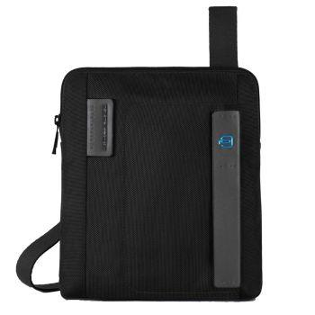 PIQUADRO Pulse Line – Black Fabric Crossbody Bag With iPad®Air/Air2 Compartment CA1358P16
