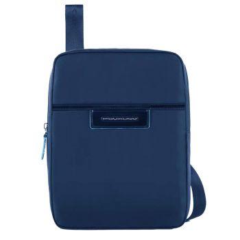 Borsello Organizzato Porta iPad iPad 10,5'' - PIQUADRO CA1816CE in Tessuto Blu