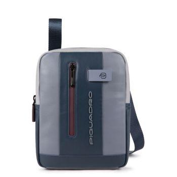 Borsello Organizzato Piquadro in Pelle Grigia e Bordeaux Porta iPad -  CA1816UB00 Linea Urban