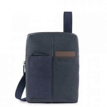 Borsello Organizzato Piquadro in Pelle Blu Porta iPad - CA1816W96 Linea Vanguard