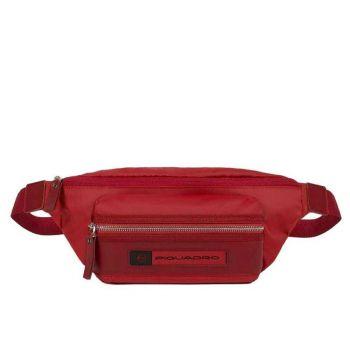 Marsupio PIQUADRO in Nylon Rigenerato Rosso linea PQ - Bios CA2174BIO