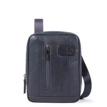 PIQUADRO Urban Line – Blue Leather Crossbody with iPad mini Compartment CA3084UB00