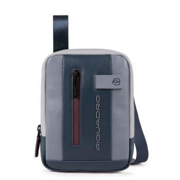 Borsello Piquadro a Tracolla in Pelle colore Grigio - Bordeaux con Porta iPad®mini - CA3084UB00 Linea Urban