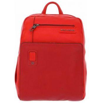 """Zaino PIQUADRO Porta Pc 14"""" e iPad - CA3214AO in Pelle Rossa Linea Akron"""