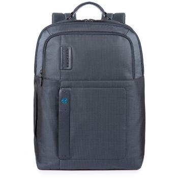 """PIQUADRO Pulse P16 Line – Blue Fabric Backpack with 15,6"""" Pc Compartment CA4174P16"""