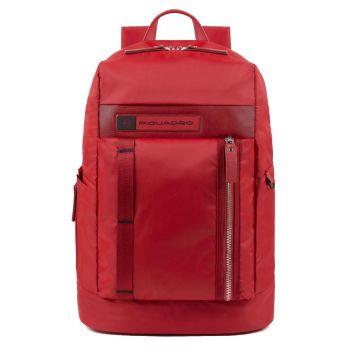 """Zaino Uomo Porta Pc 15,6"""" - PIQUADRO CA4545BIO linea PQ-Bios in Nylon Rigenerato Rosso"""