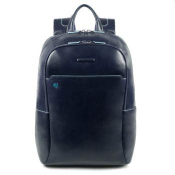 """Zaino Porta Pc 15,6"""" - PIQUADRO linea Blue Square Pelle Blu CA4762B2"""