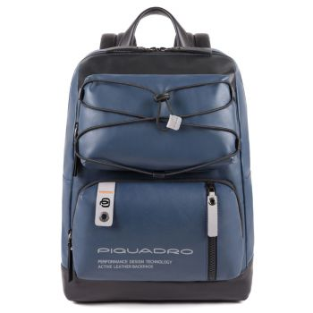 "Zaino Piquadro in Pelle Blu Porta Pc 14"" e Tablet - CA4862DT Linea Downtown"