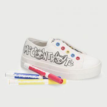 Scarpe Bambino LIU JO Sneakers Me Contro Te colore Milk