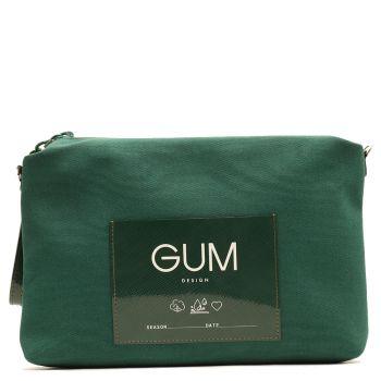Pochette Grande GUM linea Canvas Lux colore Verde Inglese