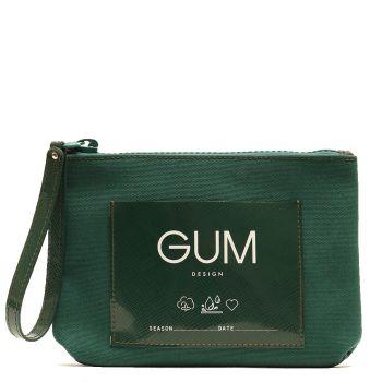 Pochette Donna GUM linea Canvas Lux colore Verde Inglese