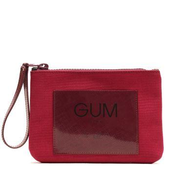 Pochette Donna GUM linea Canvas Lux colore Wine Red