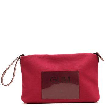 Pochette Grande GUM linea Canvas Lux colore Wine Red
