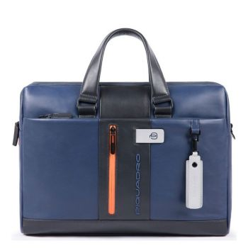 PIQUADRO Urban Line – Blue and Grey Fabric Portfolio Computer Bag CA3339UB00