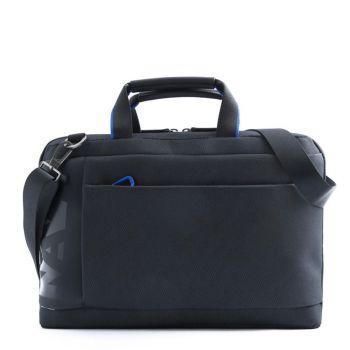"""Cartella Uomo Porta Pc 15,6"""" Nava Linea Cross Colore Black - Blue"""