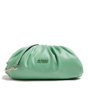 Borsa Donna Clutch GUESS con Tracolla colore Verde Linea Central City