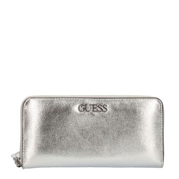 Portafoglio GUESS Zip Around Linea Central City colore Silver