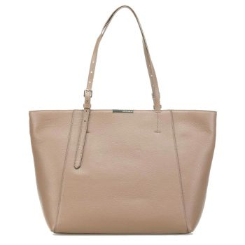 Borsa Shopping COCCINELLE Linea Cher in Pelle Taupe