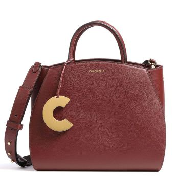 Borsa Donna a Mano COCCINELLE in Pelle Linea Concrete Medium colore Marsala