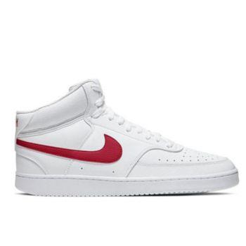 Scarpe NIKE Sneakers Alte linea Court Vision Mid colore Bianco - Rosso