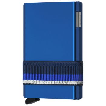 Portafoglio Cardslide SECRID in Alluminio Blu con RFID