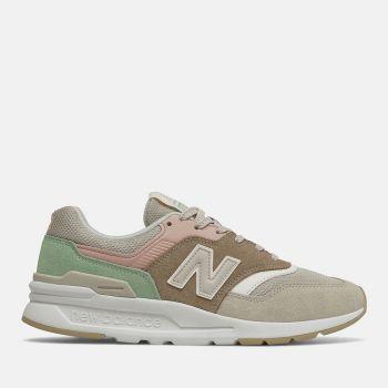 Scarpe Donna NEW BALANCE Sneakers 997H in Suede e Mesh colore Tan e Pink