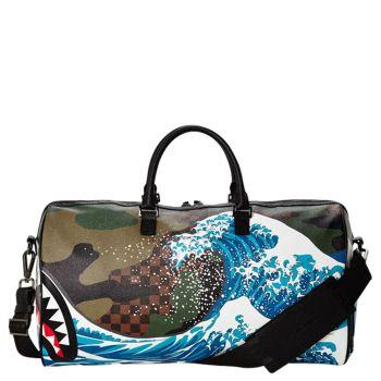 Borsone da Viaggio SPRAYGROUND stampa Camokawa Wave Shark