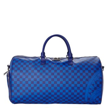 Borsone da Viaggio SPRAYGROUND stampa Blue Checkered Shark