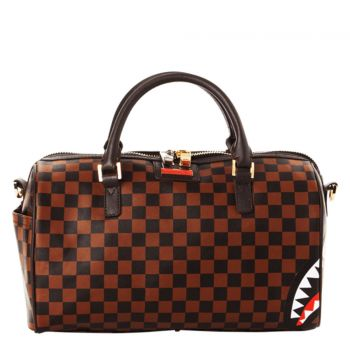 SPRAYGROUND Check Split Print Mini Boston Bag