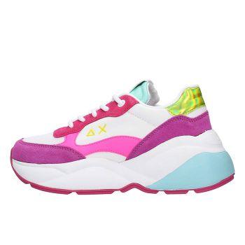 Scarpe Donna Sun68 Sneakers Dani Nylon e Mesh Colore Bianco