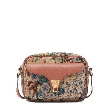 Borsa Donna a Tracolla COCCINELLE in Pelle Almond e Cinnamon linea Beat Soft Small Tapestry