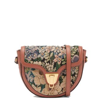 Borsa Donna a Tracolla COCCINELLE in Pelle linea Beat Saddle Small Tapestry