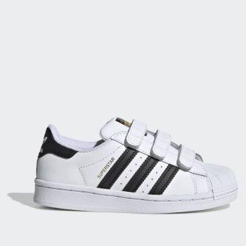 Scarpe Bambino ADIDAS Sneakers con Strappi linea Superstar colore Bianco
