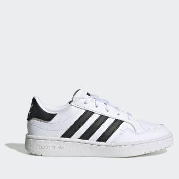 Scarpe Bambino ADIDAS Sneakers linea Team Court C colore Bianco e Nero