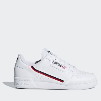 Scarpe Donna ADIDAS Sneakers linea Continental 80 Bianco Blu Navy e Rosso