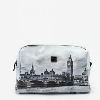 Beauty Grande con Zip Y NOT stampa London Grey FAS-304