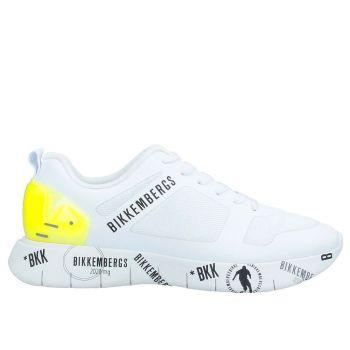 Scarpe Uomo BIKKEMBERGS Sneakers Linea Flavio Colore Bianco