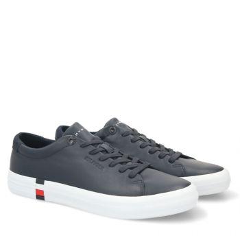 Scarpe Uomo TOMMY HILFIGER Sneakers linea Premium in Pelle colore Desert Sky
