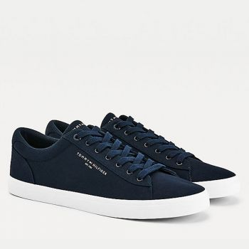 Scarpe Uomo TOMMY HILFIGER Sneakers linea Essential in Tessuto Blu