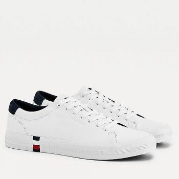 Scarpe Uomo TOMMY HILFIGER Sneakers linea Premium in Pelle Bianca