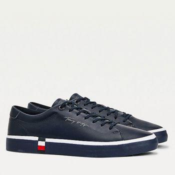 Scarpe Uomo TOMMY HILFIGER Sneakers linea Modern in Pelle Blu