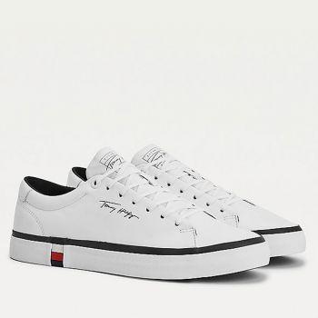 Scarpe Uomo TOMMY HILFIGER Sneakers linea Modern in Pelle Bianca