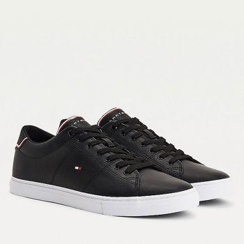 Scarpe Uomo TOMMY HILFIGER Sneakers linea Essential in Pelle colore Nero