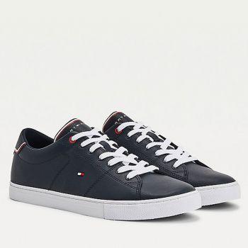 Scarpe Uomo TOMMY HILFIGER Sneakers linea Essential in Pelle colore Desert Sky