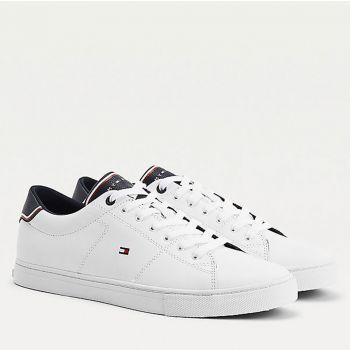 Scarpe Uomo TOMMY HILFIGER Sneakers linea Essential in Pelle colore Bianco