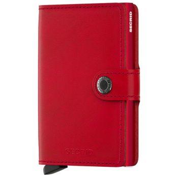 Porta Carte con Clip SECRID linea Original in Pelle Rossa con RFID