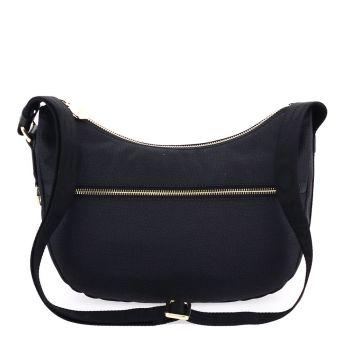 Borsa Donna a Tracolla Luna Bag Small BORBONESE in Tessuto linea Jet Op Colore Nero