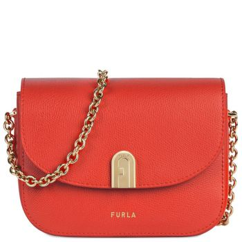 Borsa Donna Mini a Tracolla Furla in Pelle Linea 1927 colore Ruby