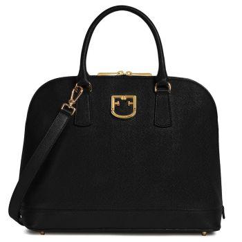 Borsa Donna a Mano Furla in Pelle Linea Fantastica M Dome colore Onyx Black