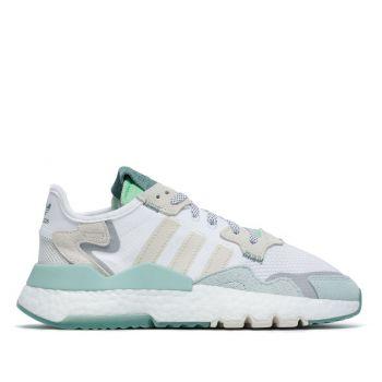 Scarpe Donna ADIDAS Sneakers linea Nite Jogger W colore Bianco e Verde